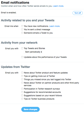 Twitter Email Notifications